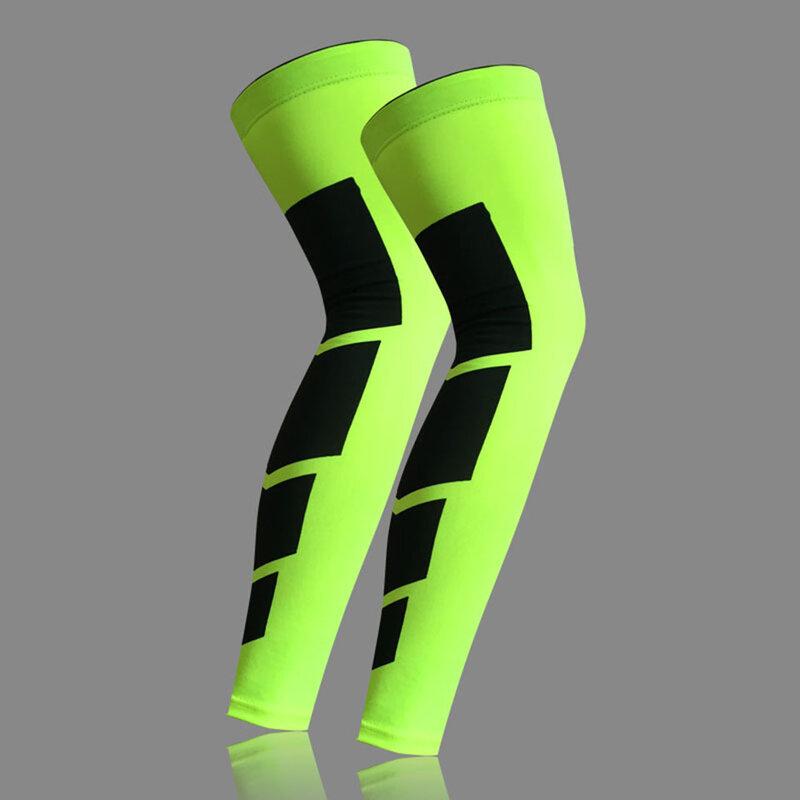 1PCS Super Elastische Lycra Basketball Beinlinge Kalb Oberschenkel Kompression Ärmeln Knie Brace Fußball Volleyball Radfahren