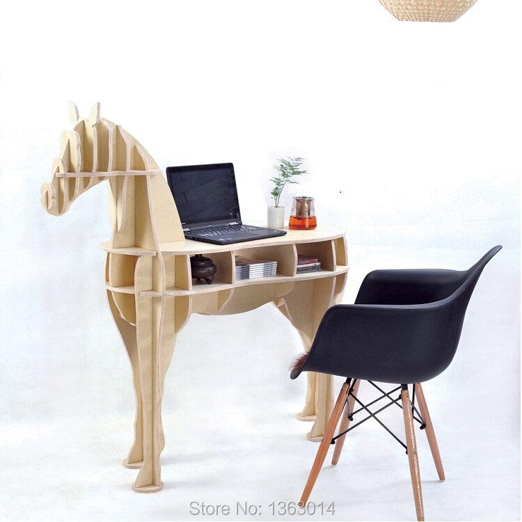 """48.8 """"cavallo scrivania cavallo caffè tavolo in legno mobili per la casa FSC-certificato"""