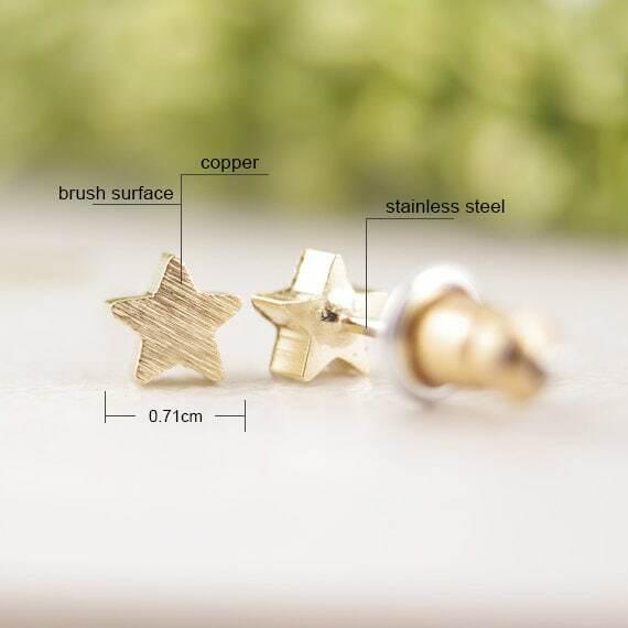 SMJEL-أقراط على شكل نجمة بسيطة للنساء ، أقراط صغيرة غير لامعة ، هدايا الحفلات ، s025