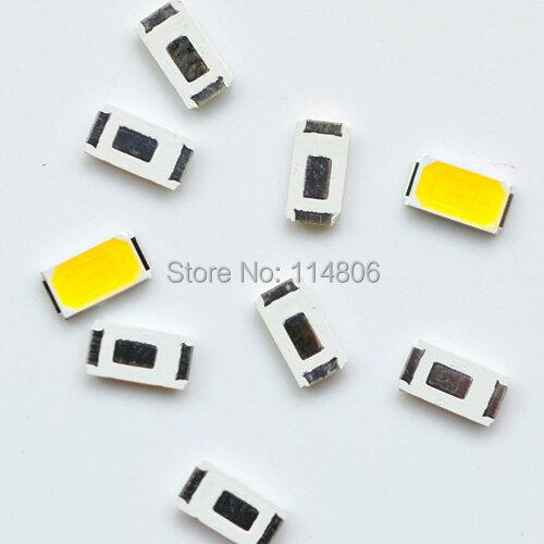 0.5W 5730 SMD LED أبيض دافئ 3000k أبيض بارد/نقي 6000k-7000k لمصباح الذرة الصمام الثنائي 55-60LM ، 10 قطعة