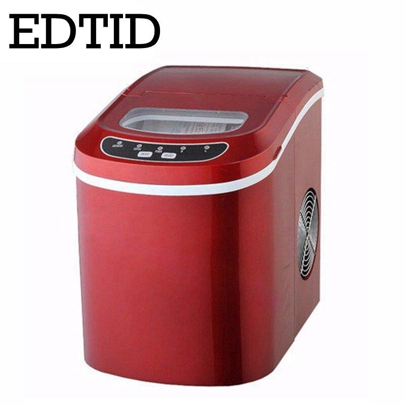 EDTID 12kgs/24H macchina per ghiaccio automatica portatile, pallottola per uso domestico macchina per ghiaccio rotonda per famiglia, bar, caffetteria spina ue/usa/regno unito