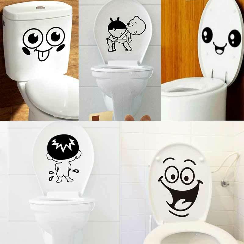 1pcs 욕실 벽 스티커 화장실 홈 장식 방수 벽 스티커 화장실 스티커 장식 붙여 넣기 홈 장식