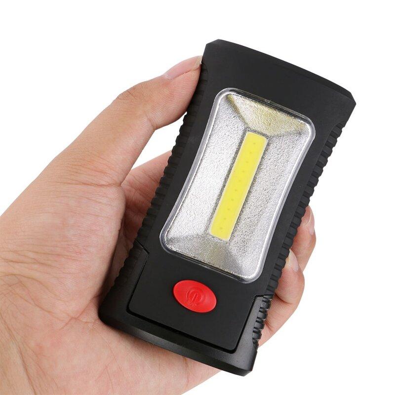 SANYI Multifunzionale Portatile COB LED Magnetica Pieghevole Gancio di Lavoro luce di Controllo Torcia della torcia Elettrica Lanterna di UTILIZZO della lampada 3xAAA