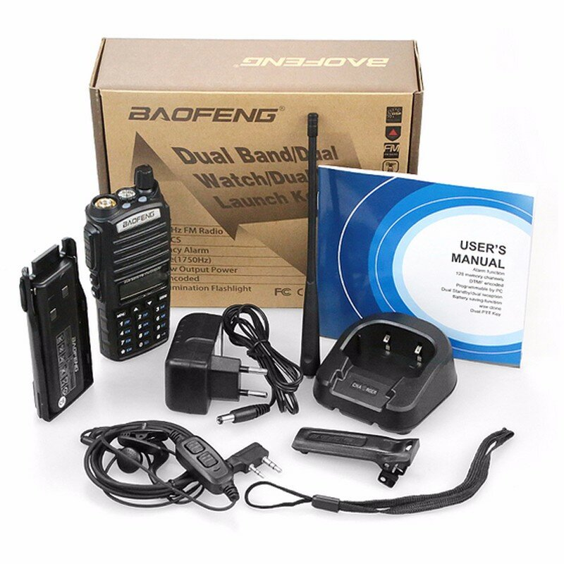 الأصلي BaoFeng UV-82 لاسلكي تخاطب 5 واط 136-174 ميجا هرتز و 400-520 ميجا هرتز اتجاهين راديو Baofeng هام راديو Baofeng uv82