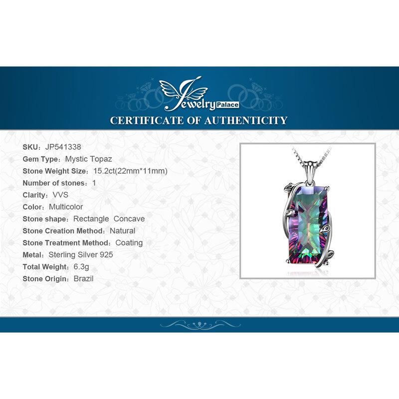 Jewelrypalace-قلادة قلادة من الفضة الإسترليني والمرأة التوباز ، جوهرة بدون سلسلة ، قلادة ، 925 فضة ، جوهرة قوس قزح ، 16 قيراط