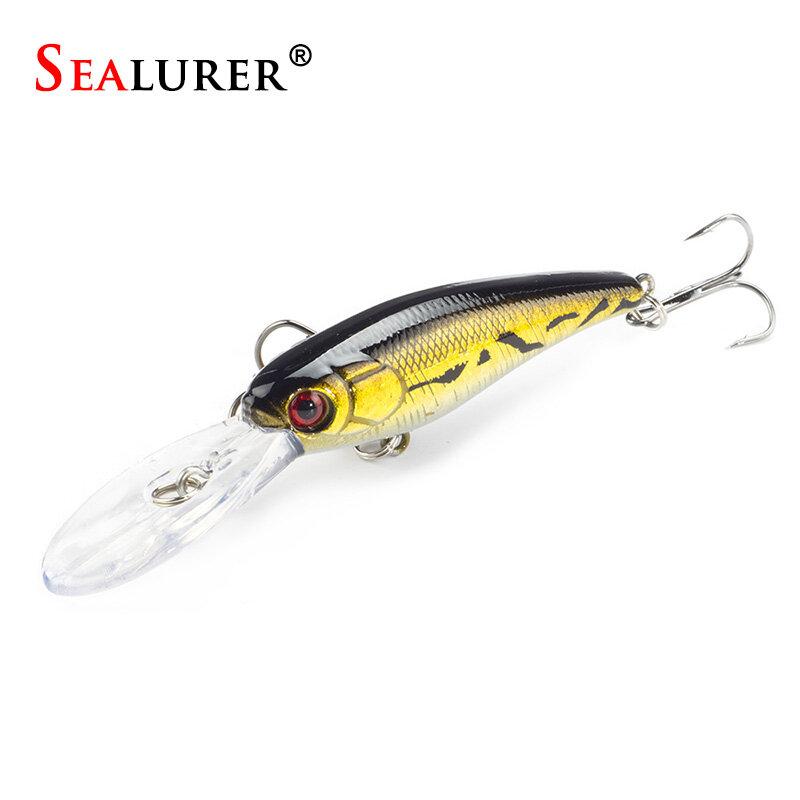 SEALURER เหยื่อ 1PCS Fishing Lure ชุดใหม่ยาวลิ้น Isca ประดิษฐ์ Wobbler Pesca ตกปลาตกปลาเหยื่อตกปลาขายส่ง Minnow
