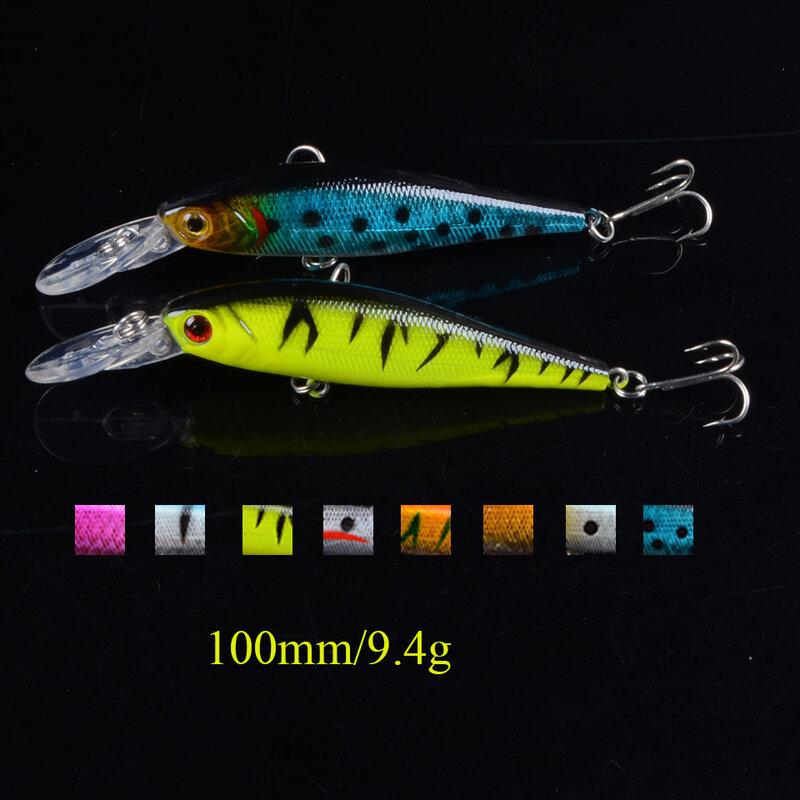 8 สี 10 ซม./9.4G Iscaประดิษฐ์Pescaเหยื่อตกปลา 2 ตะขอตกปลาCrankbait fishing Tackle Lure 3D Eye