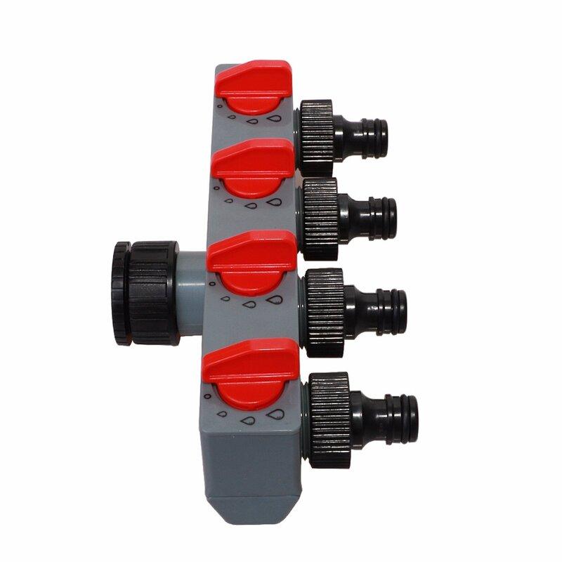 4 vie Distributore di Acqua di Rubinetto Adattatore ABS di Plastica Tubo Connettore Splitter per Tubo Flessibile Tubo di Acqua di Rubinetto #27208