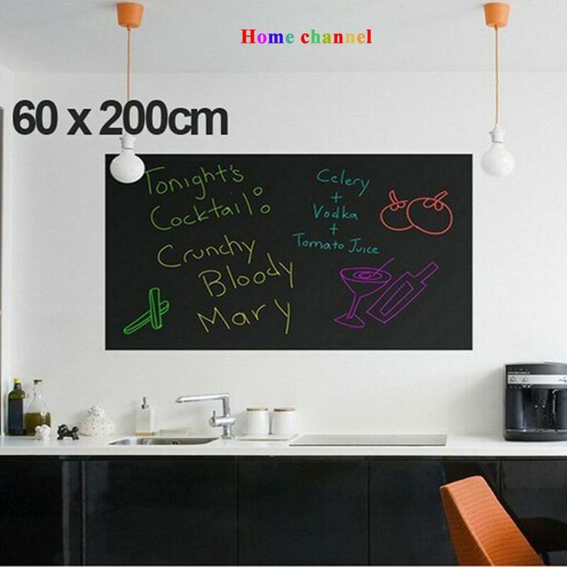 60*200CM Wand Aufkleber Tafel kinder zeichnung spielzeug Vinyl Tafel malen kreide farbe wand
