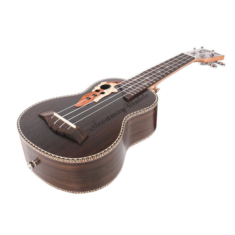 Acouway Ukulele Soprano Concert Ukulele 21 23 Rosewood uku Ukulele กับ Aquila String MINI ฮาวายกีตาร์เครื่องดนตรี