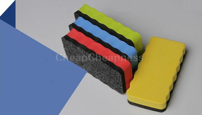 Effaceur de tableau blanc magnétique 1 pièce, effaceur de tableau noir, lingette sèche marqueur nettoyeur effaceur de dessin fournitures scolaires de bureau vente en gros