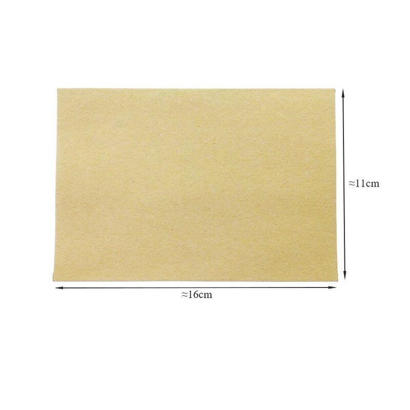 Sobres de papel Kraft clásico, sobres de regalo de boda, sobre de tarjeta de ventana, 100x160mm, unids/lote, 110