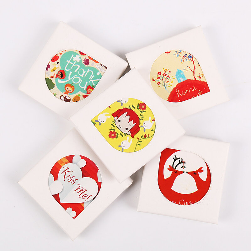 Juego de pegatinas de papel con dibujos de animales para manualidades, decoración de diario, regalo de amor romántico Vintage creativo, Kawaii Girl, 38 unids/set