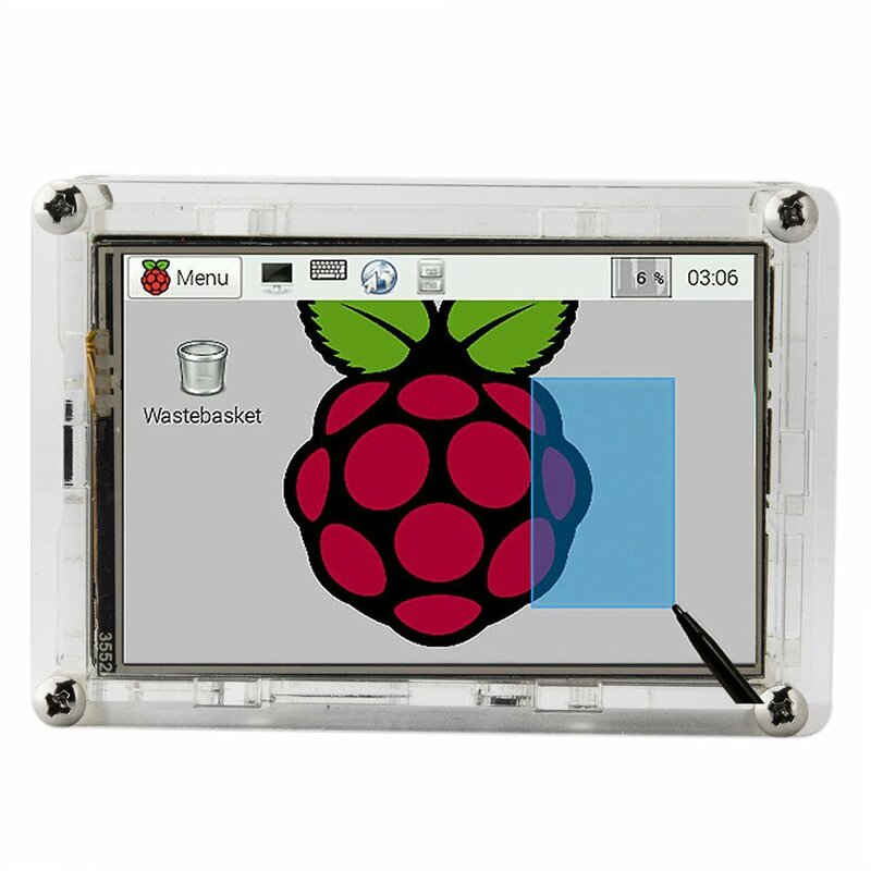 """Mejor Precio Original 3.5 """"Pantalla Táctil TFT LCD de Pantalla para Raspberry Pi 2/Caso Raspberry Pi 3 Modelo B + Tablero de Acrílico + Stylus"""
