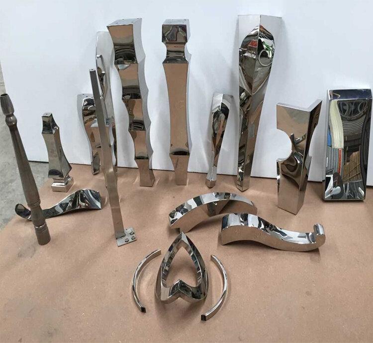 طاولة من الفولاذ المقاوم للصدأ. الجدول قدم .. أرجل أثاث معدنية. أجزاء شبه مكتملة