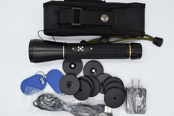 IP67 กันน้ำ Patrol USB โลหะ RFID ยามทัวร์ระบบลาดตระเวน LED SOS ฟรี 10 ด่าน 2 พนักงาน RFID: