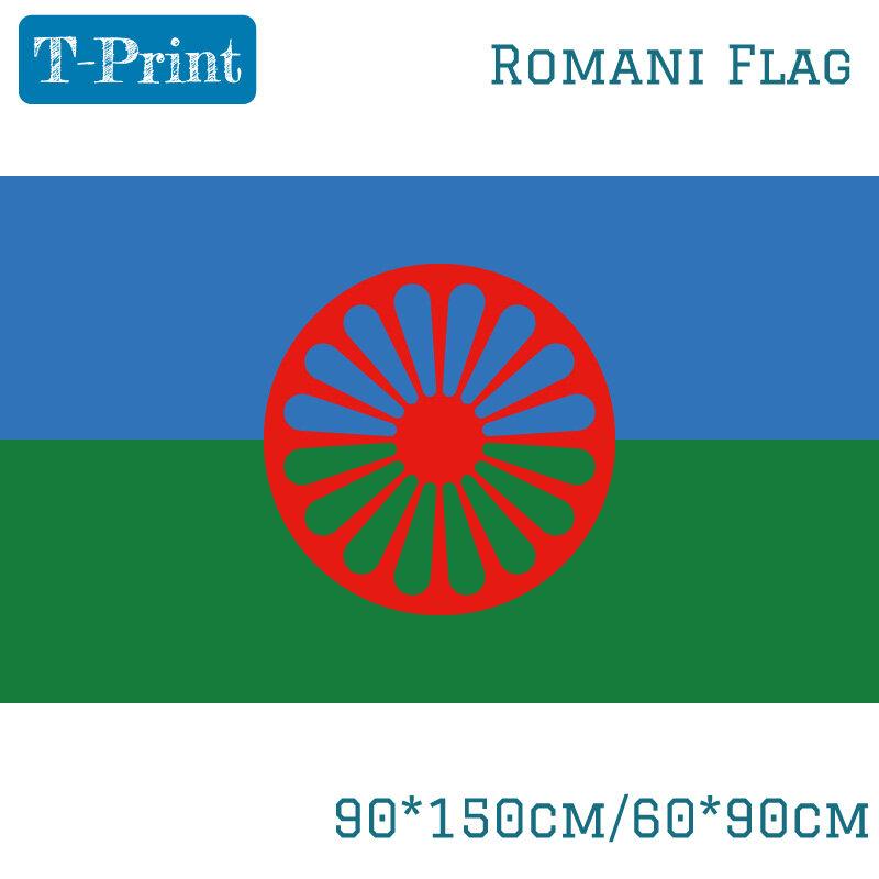 روم الغجر علم الشعب الروماني 3X5FT 90x150 سنتيمتر 60x90cm