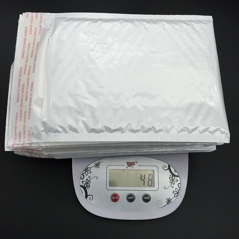 10Pcsสีขาว (15*18ซม.+ 3.5ซม.* 5G) ครีมกันแดดกันน้ำExpress Poly Bubble Mailerซองจดหมายกระเป๋า