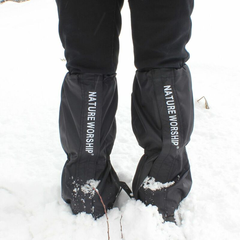 ใหม่1คู่ไต่เขาเดินป่ากันน้ำเดินปีนเขาล่าสัตว์Snow Legging Gaiters Ski Gaiters