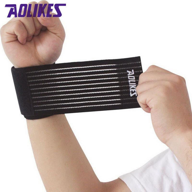 AOLIKES 1 Pcs da polso uomini di fascia donne bendaggio elastico per il polso della mano della cinghia wrap per il fitness wristband della palestra di sport supporto per il polso protezione
