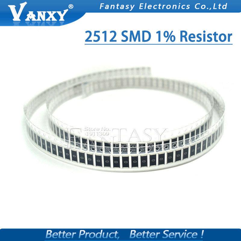 50 Uds 2512 SMD chip de resistencia fija 1% 1W 0.1R 0.01R 0.05R 0.001R 0.33R 1R 0R 10R 100R 2W 0.001, 0,01, 0,1, 0,33, 0,05 1 0 10 100 ohm