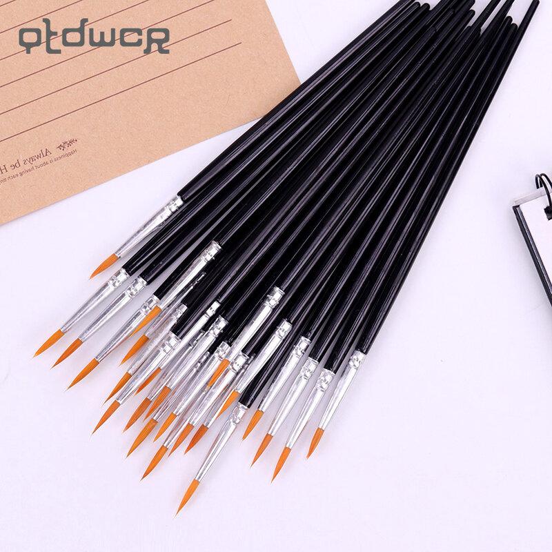 Bolígrafos finos pintados a mano, suministros de arte, bolígrafo para dibujo artístico, bolígrafo negro para estudiantes, pintura de caña, 10 Uds.
