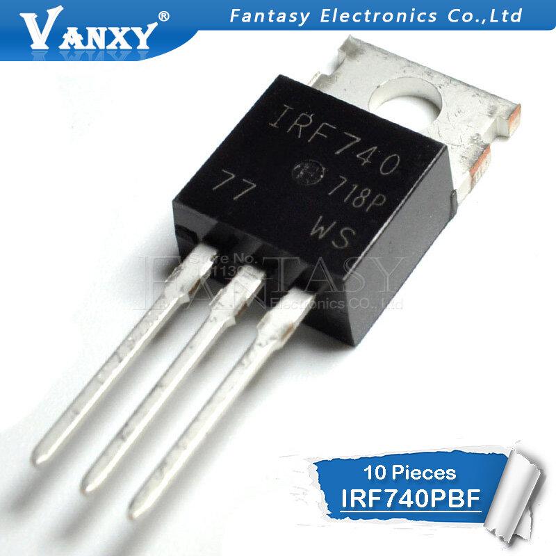 10 قطعة IRF740PBF TO220 IRF740 إلى 220 IRF740P جديدة ومبتكرة