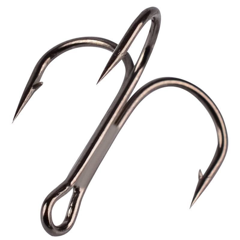 PRO BEROS Gancio di Pesca 50 pz/lotto 2/4/6/8/10/12/14 # Alto Tenore di Carbonio acciaio, Treble Hooks Fishing Tackle Nero/Marrone/Bianco Gancio di Pesce