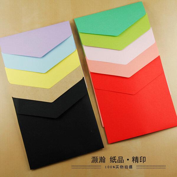 Lot d'enveloppes carrées en papier, ensemble de 100 pièces, disponibles en différentes couleurs, 15,8x15,8 cm,