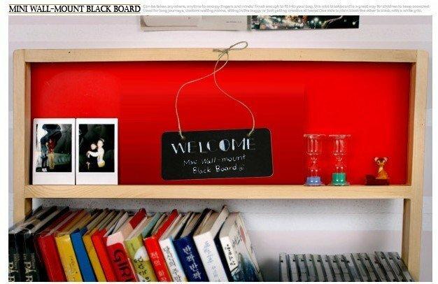1 teile/los NEUE Kleine holz wand-mount Schwarz board mit seil Holz Tafel memo Nachricht bord Holz türschild