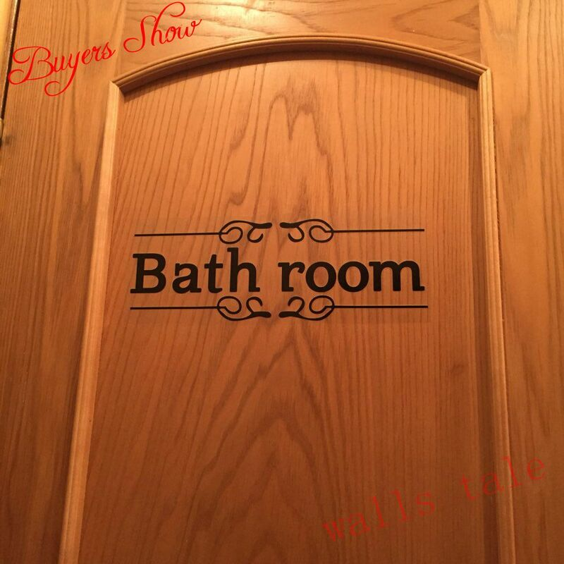 Autocollant mural Vintage en vinyle pour salle de bain, transfert de porte de toilette, décoration Vintage, citation d'art mural
