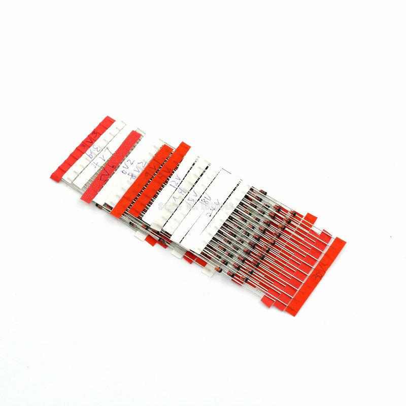 14 القيم * 10 قطعة = 140 قطعة 1W زينر ديود عدة تفعل-41 3.3V-30V مكون diy كيت جديد