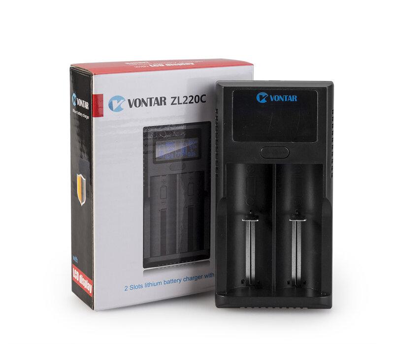 VONTAR-cargador de batería inteligente LCD USB, batería de litio 26650 V, para 18650, 18500, 18350, 17670, 16340, 14500, 10440, 3,7