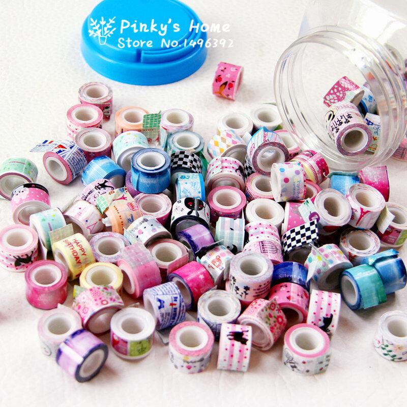 Mini ruban adhésif coloré, 10 pièces/lot, pour bricolage, ruban adhésif décoratif, ruban de masquage, autocollant en dentelle, dessin animé, pour journal intime, décoration