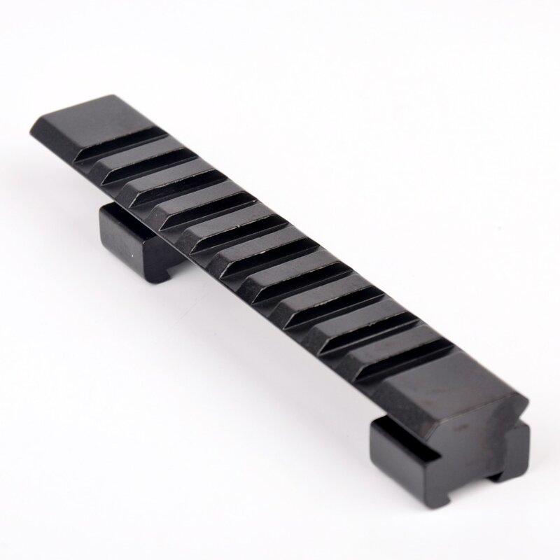 10 Picatinny Weaver Railขอบเขตการล่าสัตว์Rail 11มม.ถึง20มม.124มม.สำหรับปืนไรเฟิลปืนขอบเขตMount