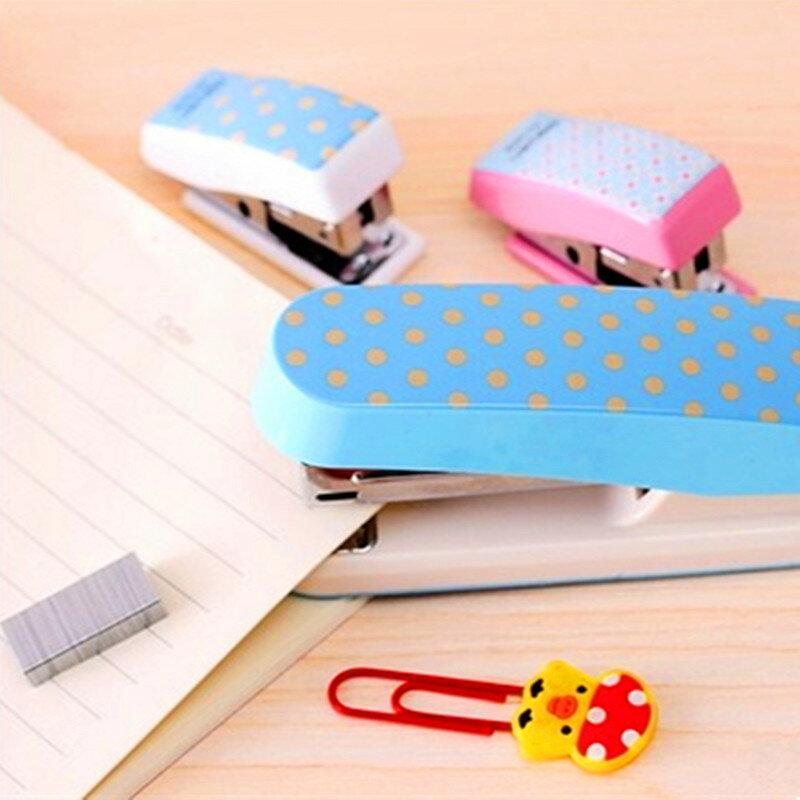 Kreative Mini Candy Farbe hefter set Nette Student Schreibwaren cartoon geometrische hefter mit heftklammern Schule Büro Liefert