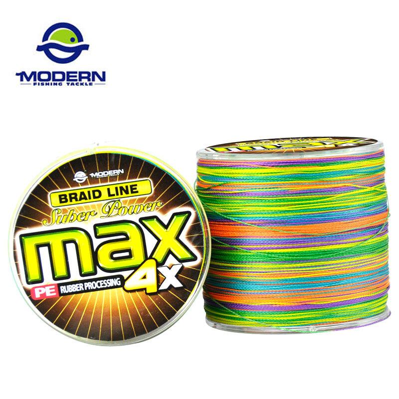 500M โมเดิร์นสายตกปลา MAX Series Multicolor 1M 1 สี Multifilament PE Braided Fishing เชือก 4 strands Braid สาย 8 90LB