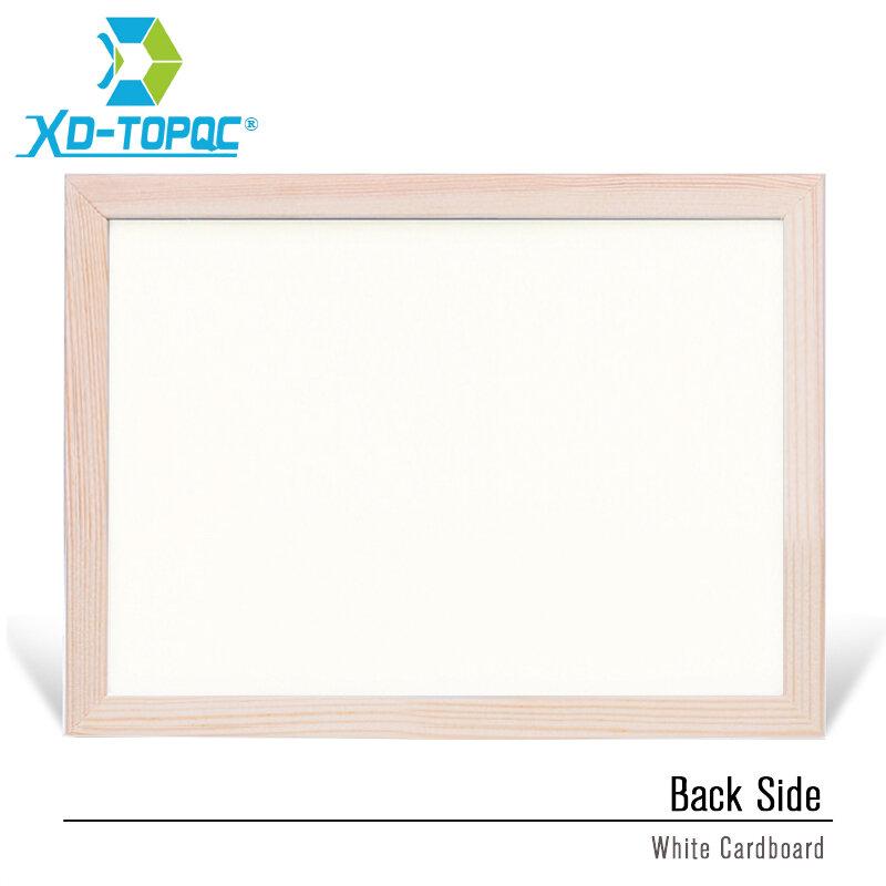 Tableau blanc effaçable à sec, 30x40cm, tableau magnétique pour dessin, feutres blancs, cadre en bois, facile à répéter, fournisseur d'usine