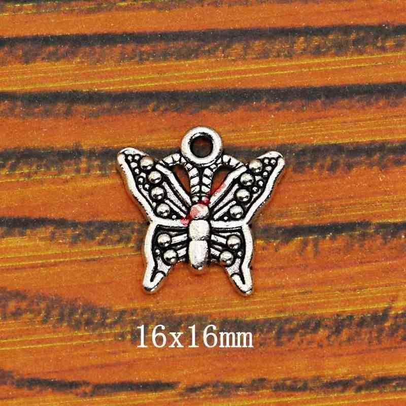 سحر اليعسوب على شكل فراشة مطلية بالفضة ، سحر سوار ، قلادة ، إكسسوارات مجوهرات ، صناعة يدوية