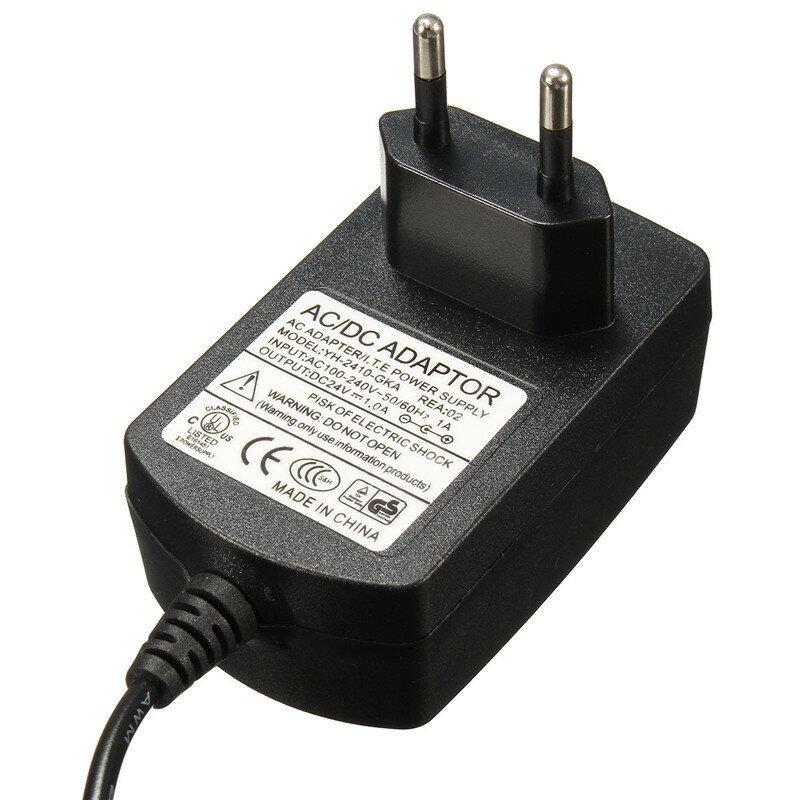 1 Pcs Eu-stecker AC 110-240 V Zu DC 24 V 1A Schwarz Super Ultraschall Nebel Maker Stecker power Adapter Home Appliance Teile Hohe Quailty
