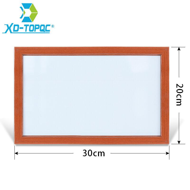 Xundi-pizarra blanca de borrado en seco, marco de madera MDF, tablones de notas magnéticos borrables con accesorios gratuitos, 20x30cm, 10 colores, WB21