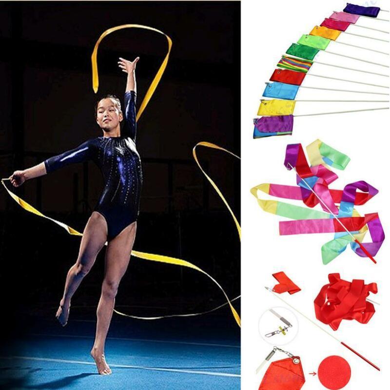 Banderole de gymnastique et danse, 4M, 11 couleurs, ruban de danse, Art rythmique