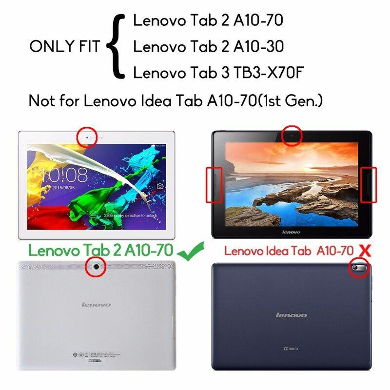 กรณีสำหรับLenovo Tab 2 A10-70F, A10-70L A10-30 X30F,slimสำหรับLenovo TAB 3 10 TB3-X70F 10.1 PUหนังFunda Capa