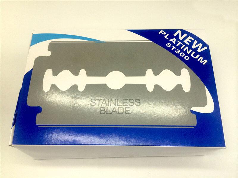남성용 면도날 20pcs 스테인레스 스틸 안전 면도날 면도기 Lames De Rasoir Barber Blade 무료 배송