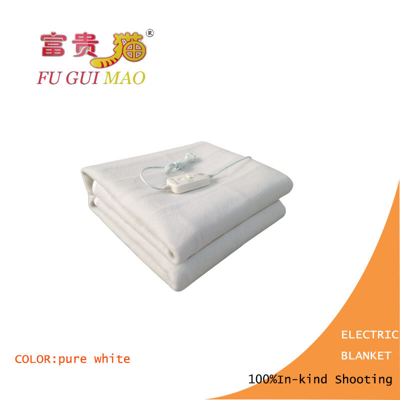 Fuguimao 전기 담요 더블 퓨어 화이트 전기 난방 담요 220 v 가열 담요 바디 워머 150x120 cm 난방 매트리스