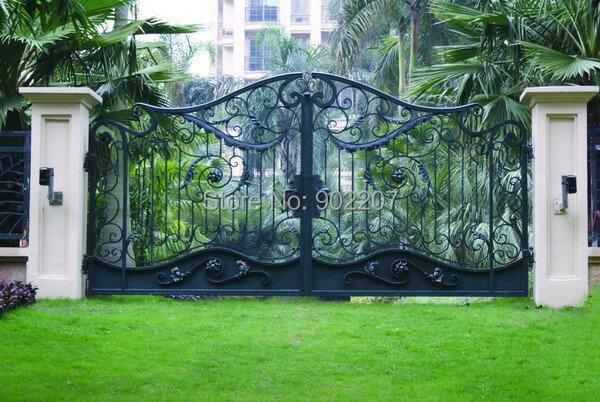 بوابة أمان فولاذية, بوابة حديدية للفناء والحديقة مصنوعة مسبقا