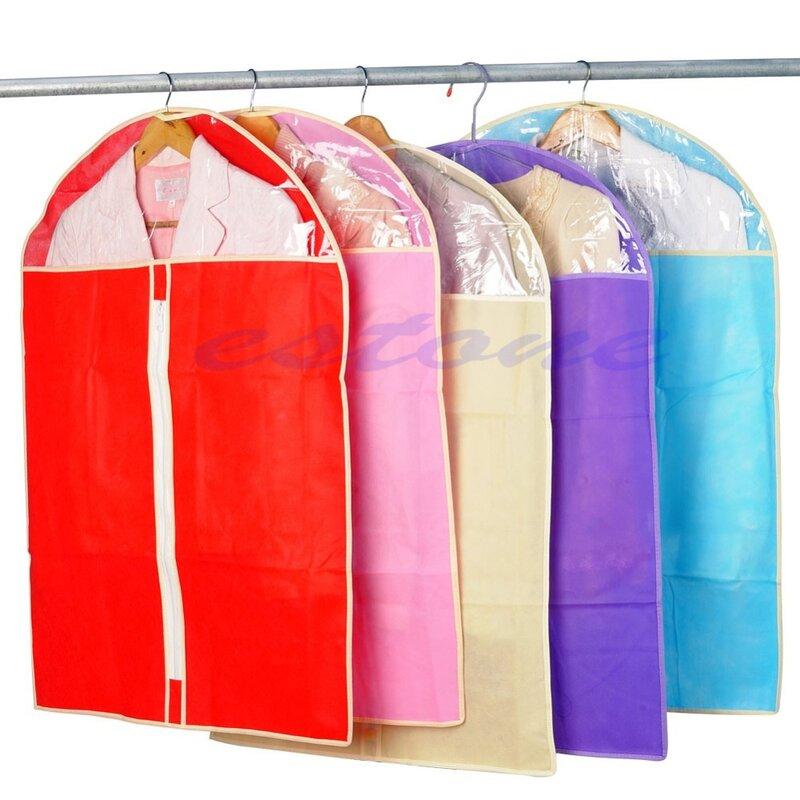 جديد الملابس اللباس الملابس دعوى غطاء حقيبة الغبار سترة تنورة تخزين حامي لون عشوائي