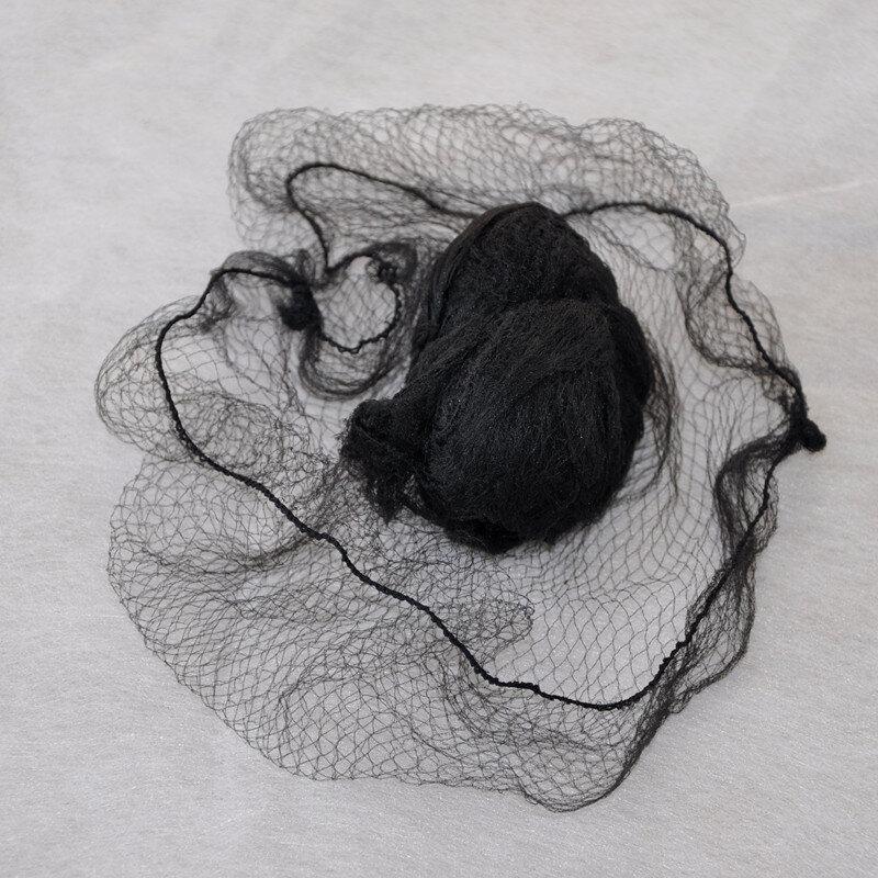 100ชิ้น/ถุงที่มองไม่เห็น Hairnet ชุดอุปกรณ์เสริมสำหรับผมผู้หญิง Bun Ballet Dancer ครัวทำอาหารอาหาร Serive Sleeping