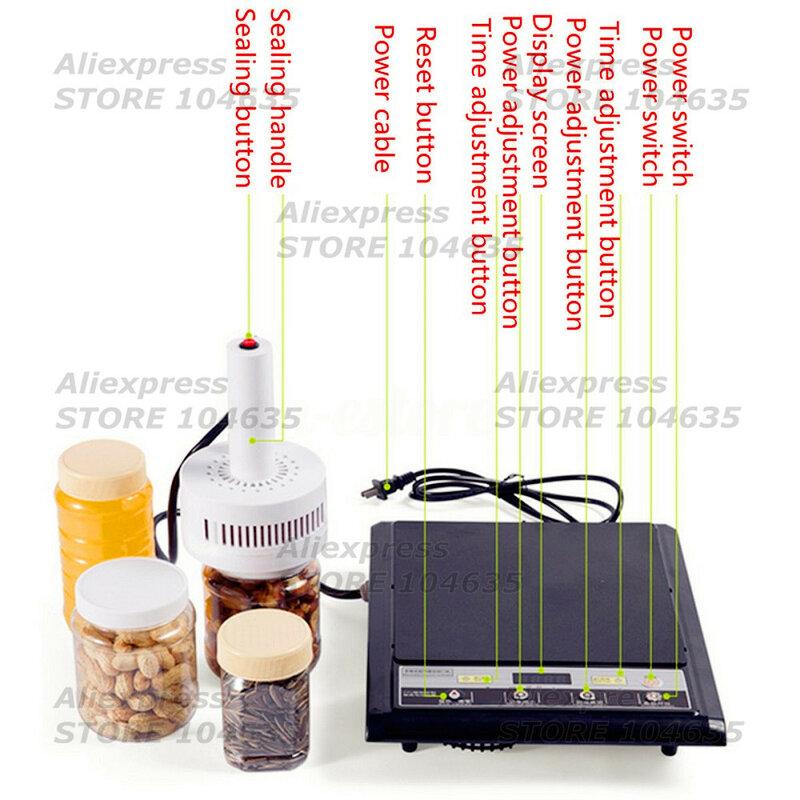 20-100mm de inducción electromagnética máquina selladora de frascos de plástico médica sellador de botella tapón de sellado máquina de envío gratis