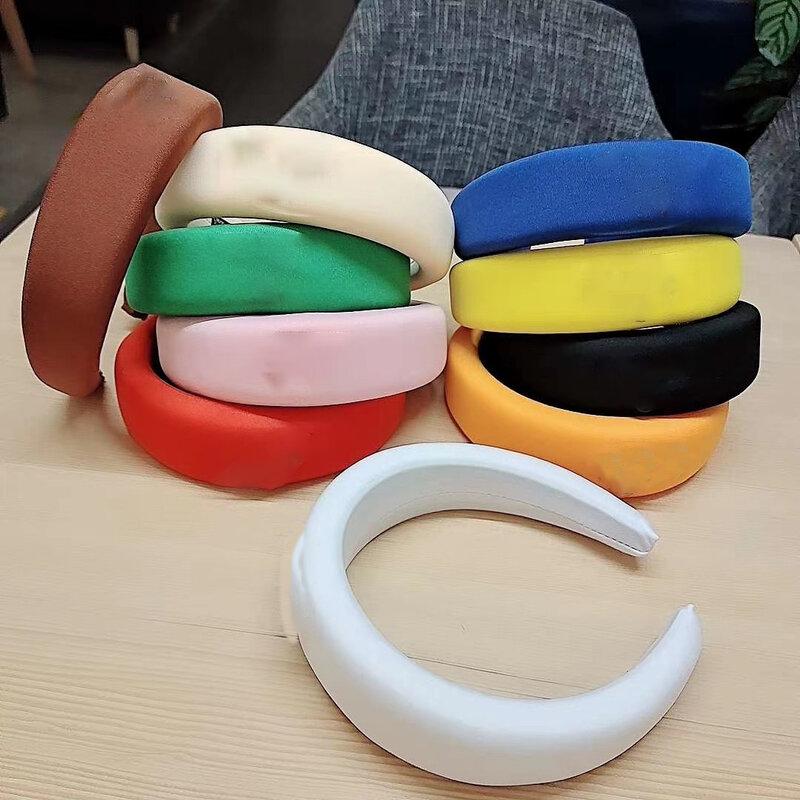 Heißer Luxus Marke frauen stirnband Italienischen Sammlung Hohe Qualität Neon Farbe Nylon Breite Dicke Kopf Band großhandel 2021 Neue